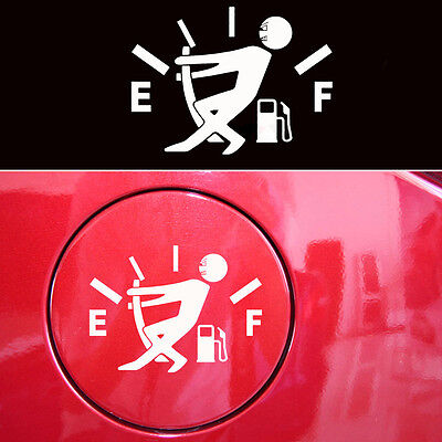 Novelty Fuel Tank Pointer JDM Funny Pull To Full Vinyl Car Sticker Funny Decal