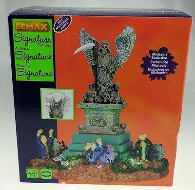 Lemax Spooky Town Angel of Death Statue #34603 NIB Signature Collection 2013