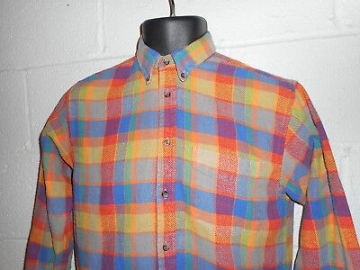 Vintage 90s Bright Colorful GAP Flannel Shirt Youth XL