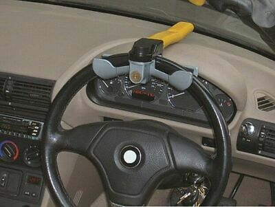 Streetwize SWRL Steering Wheel Lock Rotary Yellow 2 Keys Anti Theft Security