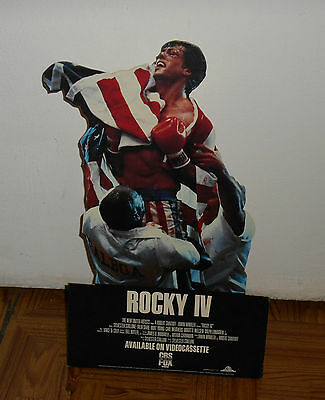 vintage ROCKY IV counter display small standee Sylvester Stallone