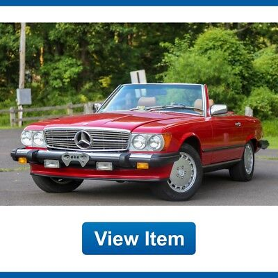 1989 Mercedes-Benz SL-Class  1989 Mercedes Benz 560SL SL 560 Soft Hard Top Convertible Servicd 3rd Row Carfax