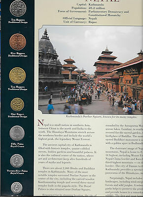 Coins from Around the World Nepal 1996 - 1997 BU UNC 10, 5 Rupees 1997 2 Rp 1996