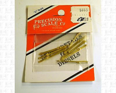 Precision Scale O Brass Parts Cored Modern EMD Long End Handrail Stanchions 5663