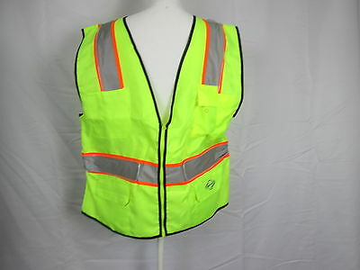 Reflective,LED Lighted Safety Vest,w/3 Light Settings by Night Armor, size L