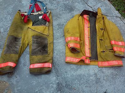 Yellow bunker gear SET coat pants yellow