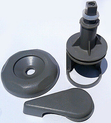 "2"" spa hot tub Diverter water Valve  Gray O-Ring Cap Kit Reinforced Handle"