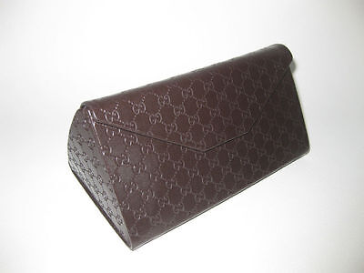 Gucci Guccissima Large Brown Sunglasses Case With Cleaning Cloth