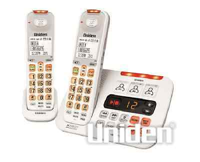 Uniden Sse45+1 White Sight & Sound Enhanced Cordless Phone System