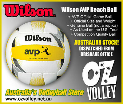 Genuine Wilson AVP Tour Official Beach Volleyball (2017 Model) - OzVolley