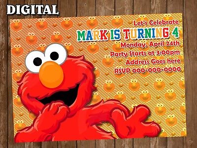 Elmo Digital Party Invitation Personalized Birthday