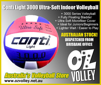Conti 3000 Series Ultra Light Indoor Volleyball - Perfect for Beginners OzVolley