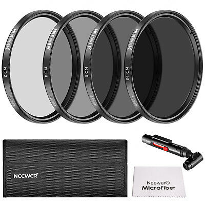 Neewer 58MM Neutral Density ND2 ND4 ND8 ND16 Filter and Accessory Kit