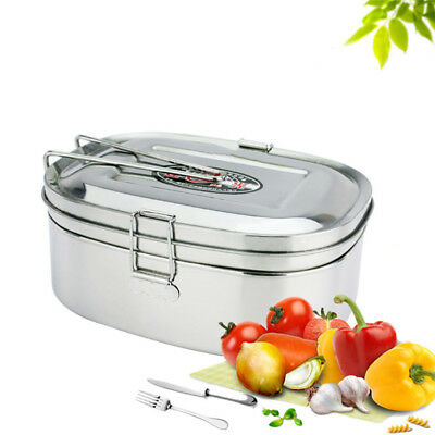 Stainless Steel Lunch Box Thermal Insulated Picnic Food Container Bento Boxes
