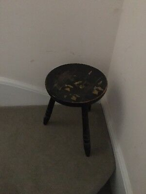 Wooden Antique Milking Stool