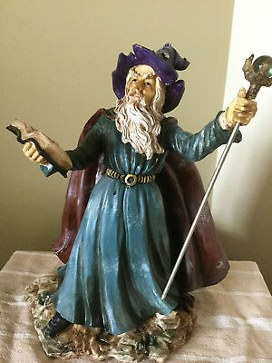 Collectable Resin Wizard Figurine 30Cm Beautiful Detail