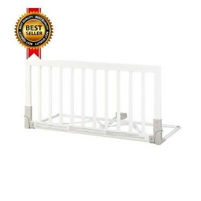 BabyDan Wooden Bed Guard (White) NEW