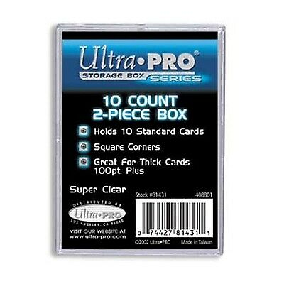 UltraPro Ultra Pro Card Storage Box 10ct | 2 Piece Acrylic Trading Card CASE
