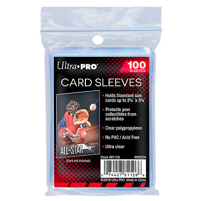 UltraPro Ultra Pro Soft Standard Card Sleeves Protector Pack of 100 Acid Free