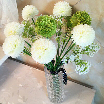 Silk Flowers Artificial Mini Hydrangea Bouquet Wedding Bridal Party Home Decor