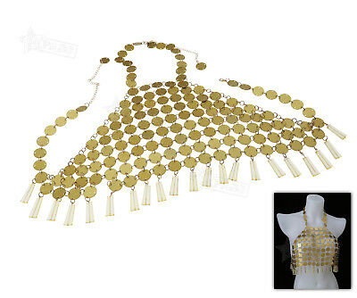 Fashion Shinning Gold Sequins Jewellery Crop Top Vest Body Chain Casual Beach