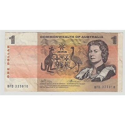 $1 Paper Banknote Commonwealth of Australia Phillips Wheeler BFD323010