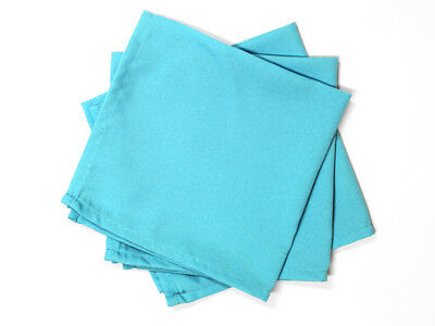 Lot de 3 serviettes de table ALIX turquoise