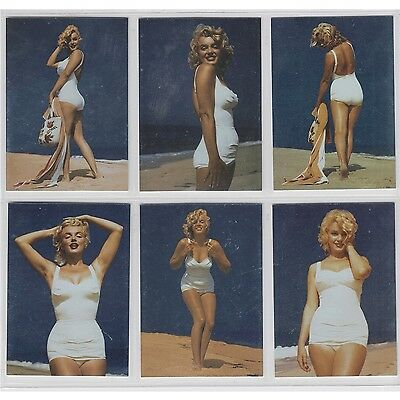 Breygent Marilyn Monroe Swimsuit Fun Set of 6 Trading Cards - Foil Nice