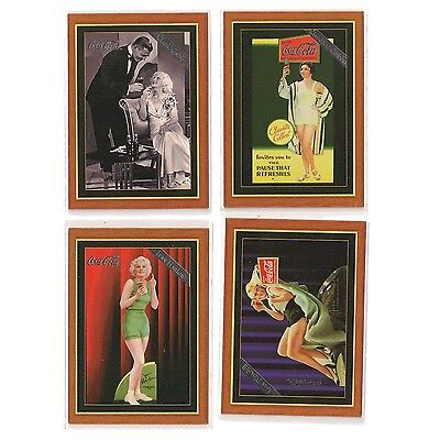 Coca Cola Series 4 Hollywood Favorites Set of 4 Trading Cards COKE Full Set