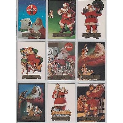 Coca Cola Coke Collect A Card Series 2 Santa Set of 10 S11 - S20 Foil Stamp