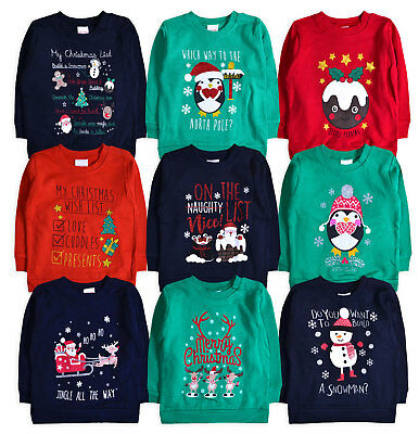 Baby Xmas Jumper New Kids Christmas Boys Girls Sweatshirt Top 6 - 24 Months