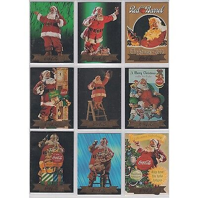 Coca Cola Coke Collect A Card Series 3 Santa Set of 10  S21 - S30 Foil Stamp