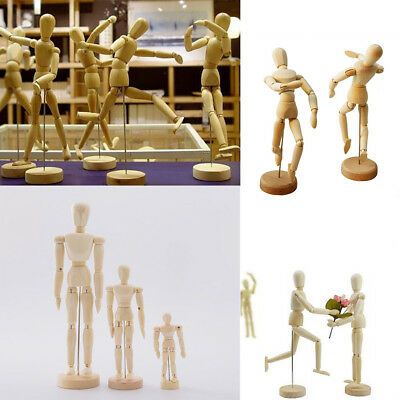 8/5.5/4.5'' Movable Flexible Wooden Art Mannequin Puppet Doll Paint Sketch Model