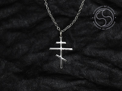 Orthodox Cross Pendant Christian Symbol Stainless Steel Byzantine Cross Necklace