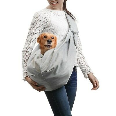 Pet Sling Carrier Reversible Dog Cat Double Side Pouch Shoulder Carry Bag Travel