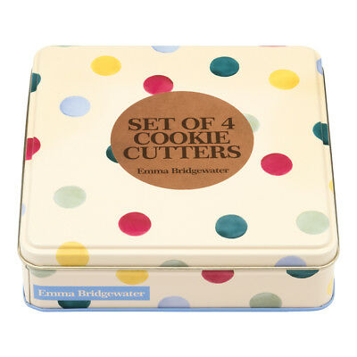 Emma Bridgewater Polka Dot Boxed Cookie Cutters In Gift Tin - Brand New Design
