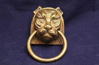 Antique Bronze Lion Drawer Pull Handle