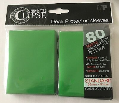 Ultra Pro Eclipse Pro-Matte GREEN Deck Protector Trading Card Sleeves 80