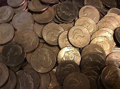 100  bicentennial EISENHOWER (IKE) DOLLARs circulated with free coin tubes