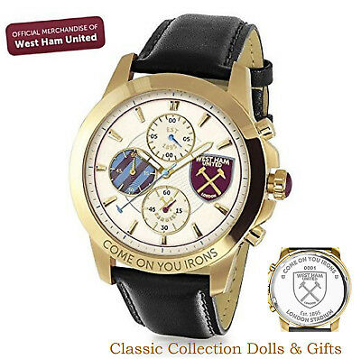 Bradford Exchange-Official West Ham United Fc Chronograph Watch -New-In Stock!