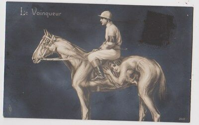 Early Postcard, Animals, Le Vainqueur, Horse With Ladies, Metamorphic Card,1913