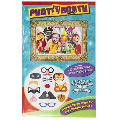 Kids 12pc Photo Booth Selfie Props DIY Wedding Parties Birthday Accessories