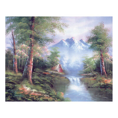 COLLECTION D'ART | Printed Canvas: Mountain Cascades |CD10334