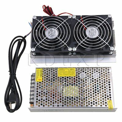 DIY Double Fans 120W Refrigeration Semiconductor Cooling Kit with Power