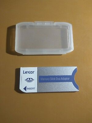 Sony Memory stick Pro Duo MS Adapter with plastic case,Lexar Brand,MSDAD Z24