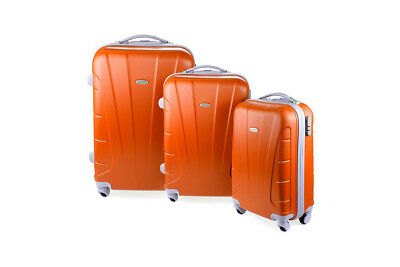 NEW Orbis Luggage Set 3-Piece Hardside Spinner Travel Accessories