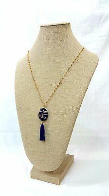 "Burlap Necklace Bust Display Jewelry/Chain Linen Neckform Necklace Holder - 22""H"