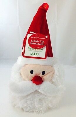 New W/ Tag! Dan Dee Lighted Santa Claus Christmas Adjustable Hat