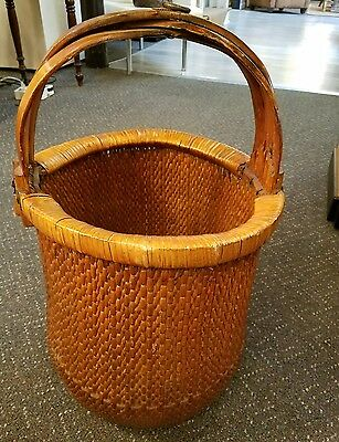 Large Antique Chinese Vegetable Basket