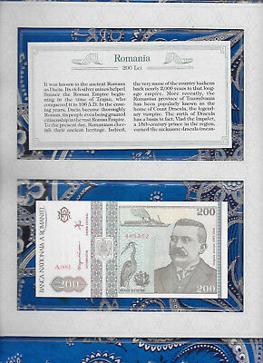 *Most Treasured Banknotes Romania 1992 200 Lei GEM UNC P100 serie A.0001